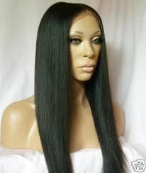14 Inch Full Lace Wig Silky Straight, #1B