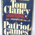 PATRIOT GAMES by Tom Clancy BOOK + FREE U.S. SHIPPING