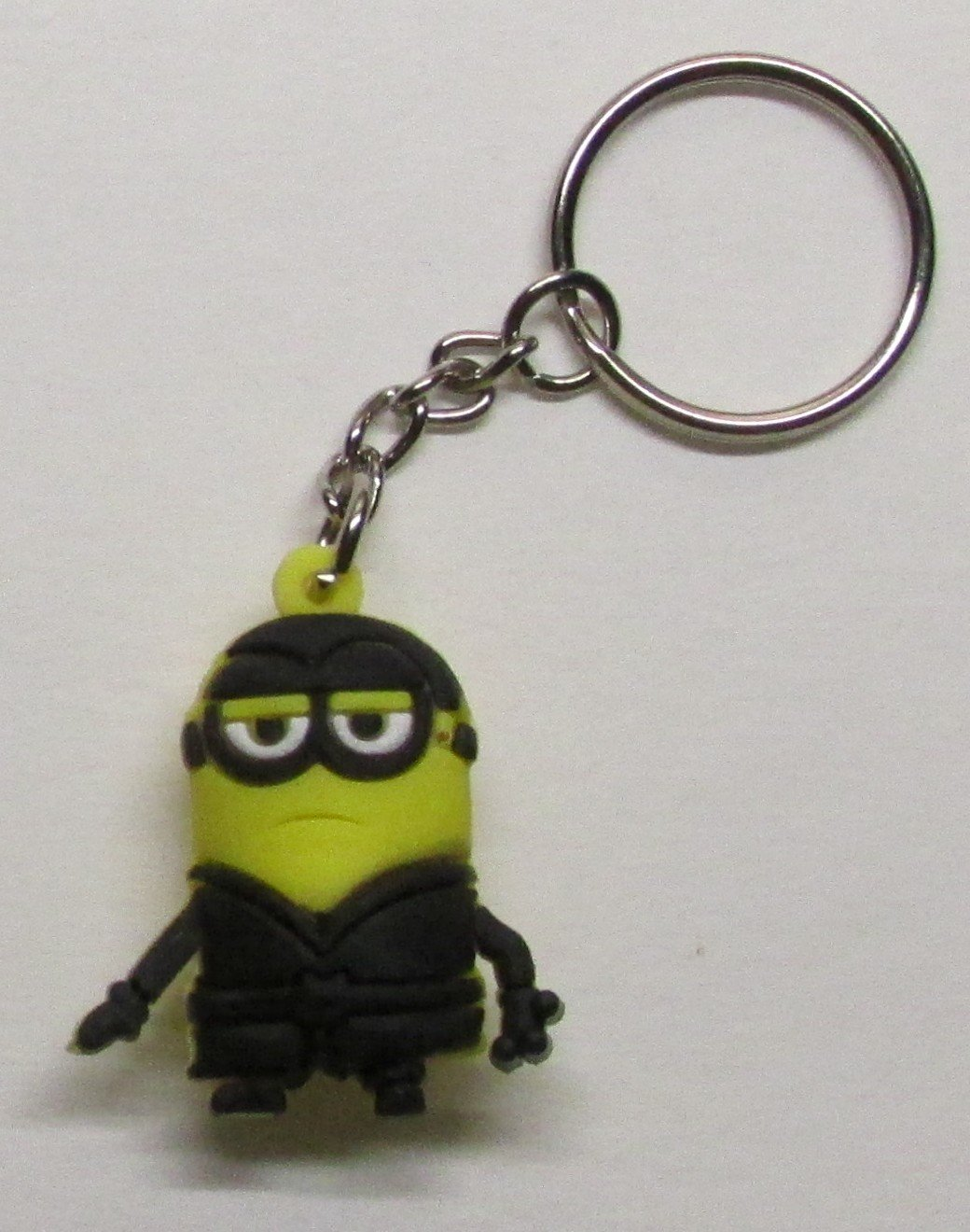 KEVIN the MINION Despicable Me Silicone Rubber KEY CHAIN Ring Keychain NEW