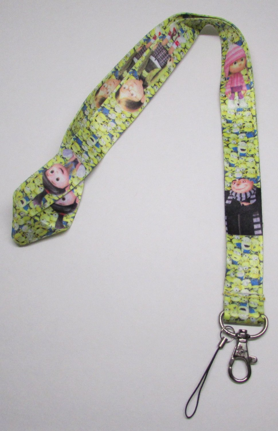 Children MINIONs Despicable Me LANYARD KEY CHAIN Ring Keychain ID Holder NEW