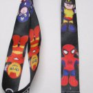 NINTENDO Superhero LANYARD KEY CHAIN Ring Keychain ID Holder NEW