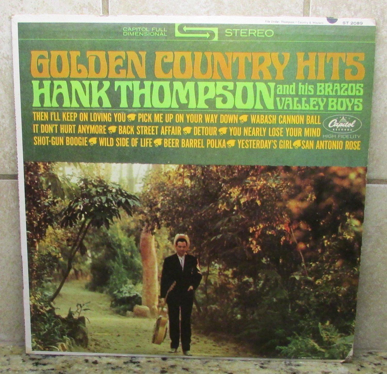 Golden Country Hits HANK THOMPSON Brazos LP Record Vinal ALBUM Capitol ST 2089