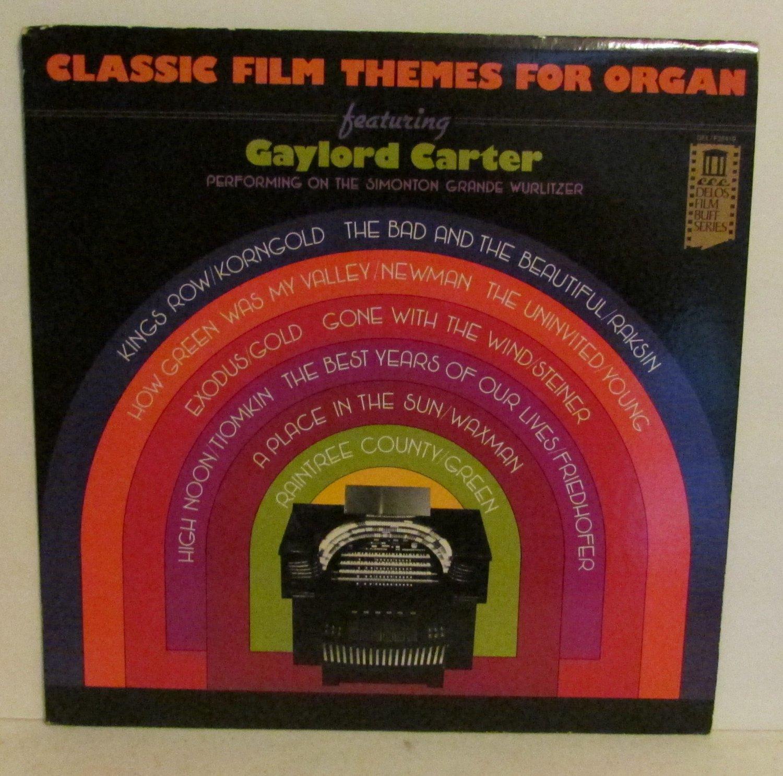 Classic Film Themes for Organ GAYLORD CARTER LP Record Vinal ALBUM DEL/F25419