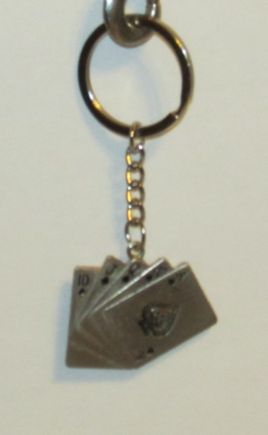 POKER SPADES Playing Cards KEYCHAIN Novelty KEY CHAIN Ring NEW