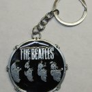 THE BEATLES Band Group Faces Silver Metal KEY CHAIN Ring Keychain NEW