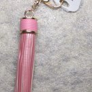 HAVARIA Fashion Leather PINK Tassel Crab Claw Metal KEY CHAIN Ring Keychain NEW