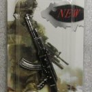 AK47 Rifle Weapon Replica Silver Metal KEY CHAIN Ring Keychain NEW