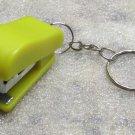 Mini Yellow STAPLER School Office for Paper KEY CHAIN Ring Keychain NEW