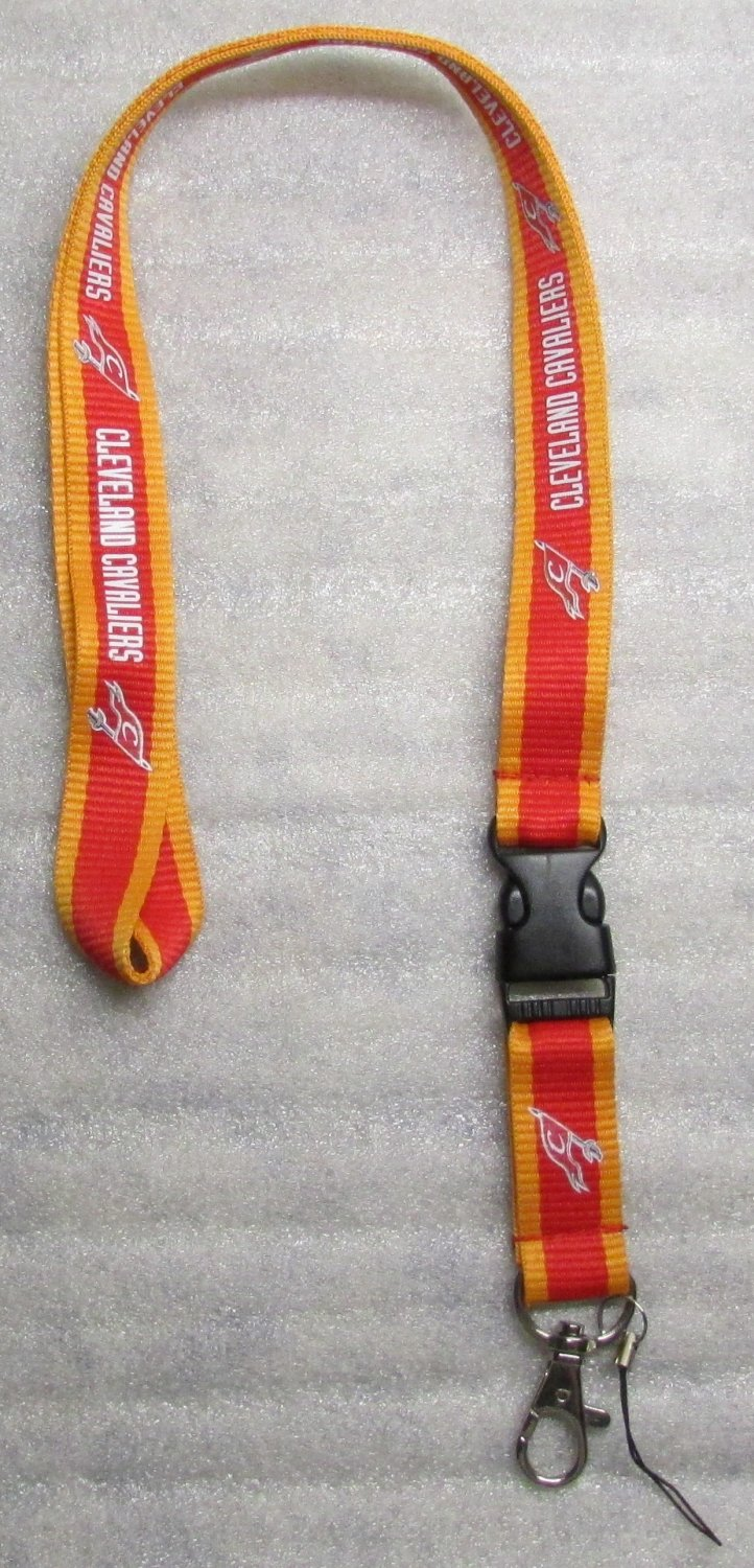 NBA Cleveland Cavs Breakaway Disconnect LANYARD KEY CHAIN Ring Keychain ID Hold NEW
