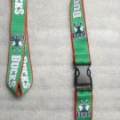 NBA Milwaukee Bucks Breakaway Disconnect LANYARD KEY CHAIN Ring Keychain ID Hold NEW