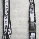 NBA San Antonio Spurs Breakaway Disconnect LANYARD KEY CHAIN Ring Keychain ID NEW