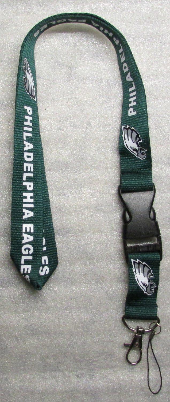 NFL Philadelphia Eagles Breakaway Disconnecting Football LANYARD ID Key Holder NEW