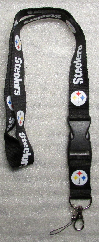 NFL Pittsburgh Steelers Breakaway Disconnecting Football LANYARD ID Key Holder NEW