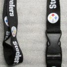 NFL Pittsburgh Steelers Breakaway Disconnecting Football LANYARD ID Key Holder NEW
