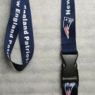 NFL New England Patriots Breakaway Disconnect Football LANYARD ID Key Holder NEW