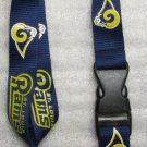 NFL Saint St Louis Rams Breakaway Disconnect Football LANYARD ID Key Holder NEW