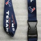 NFL Houston Texans Breakaway Disconnecting Football LANYARD ID Key Holder NEW