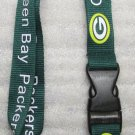 NFL Green Bay Packers Breakaway Disconnecting Football LANYARD ID Key Holder NEW