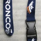 NFL Denver Broncos Breakaway Disconnecting Football LANYARD ID Key Holder NEW