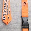 NFL Cincinnati Bengals Breakaway Disconnect Football LANYARD ID Key Holder NEW