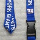 NFL New York Giants Breakaway Disconnect Football LANYARD ID Key Holder NEW
