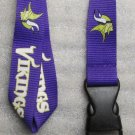 NFL Minnesota Vikings Breakaway Disconnect Football LANYARD ID Key Holder NEW