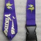 NFL Minnesota Vikings Breakaway Disconnect Football LANYARD ID Key Holder NEW