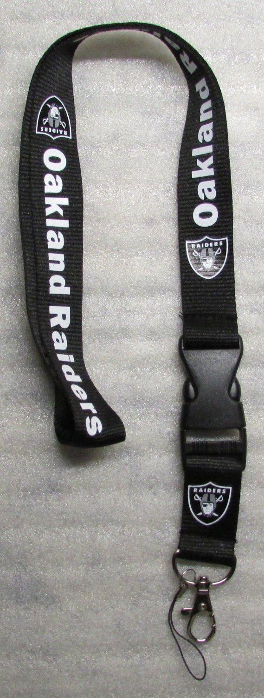 NFL Oakland Raiders Breakaway Disconnect Football LANYARD ID Key Holder NEW