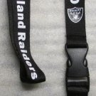 NFL Oakland Raiders Breakaway Disconnect Football LANYARD ID Key Holder NEW