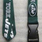 NFL New York Jets Breakaway Disconnect Football LANYARD ID Key Holder NEW
