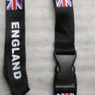 ENGLAND with Flag Quick Release LANYARD KEY CHAIN Ring Keychain ID Holder NEW