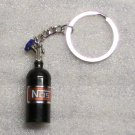 NOS Nitrous Oxide Systems Black Bottle KEY CHAIN Ring Keychain NEW