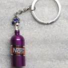 NOS Nitrous Oxide Systems Purple Bottle KEY CHAIN Ring Keychain NEW