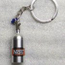 NOS Nitrous Oxide Systems Silver Bottle KEY CHAIN Ring Keychain NEW