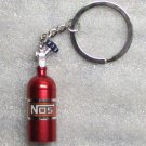 NOS Nitrous Oxide Systems Red Bottle KEY CHAIN Ring Keychain NEW