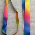 Rainbow Colors LANYARD KEY CHAIN Ring Keychain ID Holder NEW