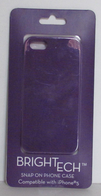 BrighTech Snap On iPhone 5 PHONE CASE Purple NEW
