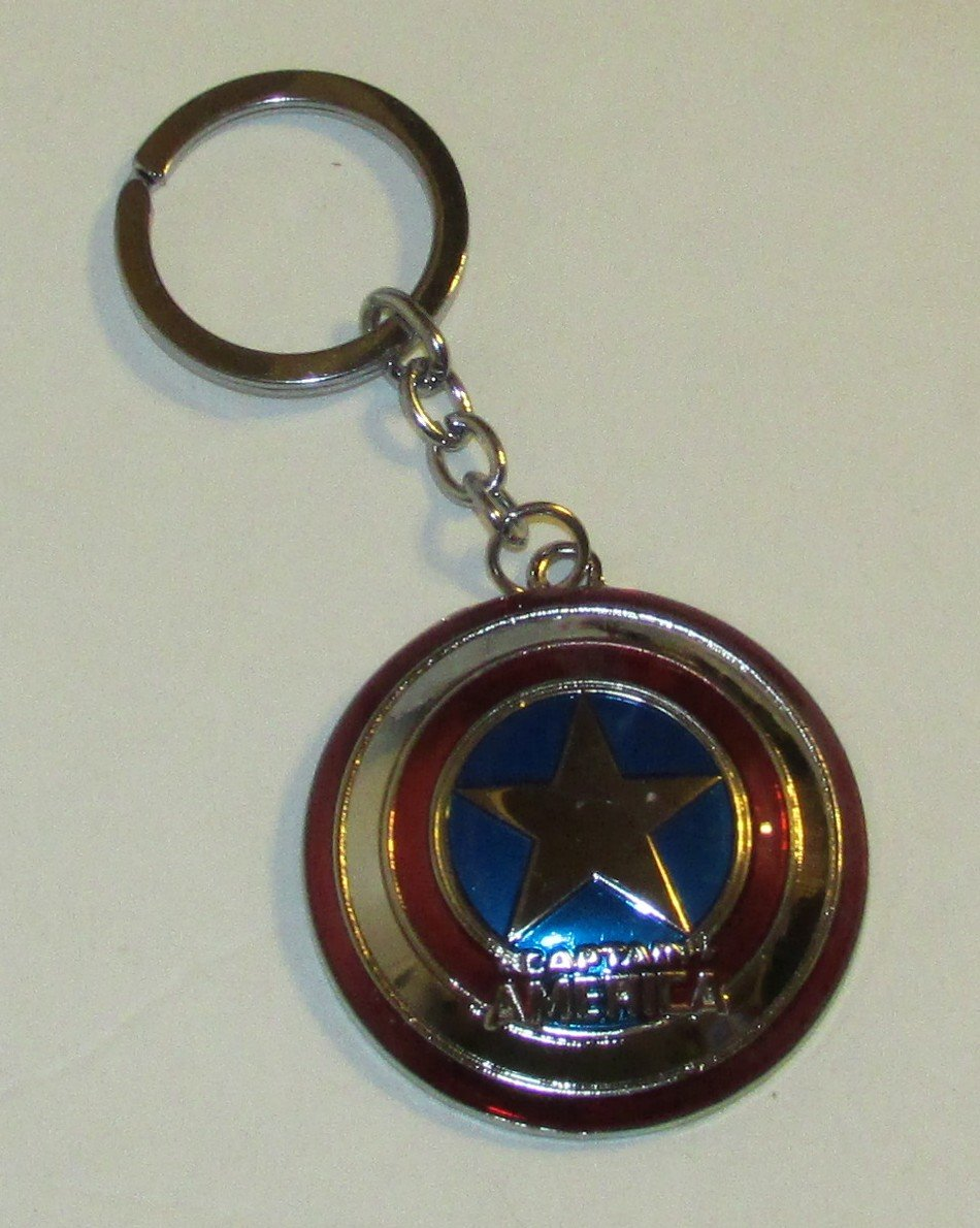 Marvel Comics CAPTAIN AMERICA Shield The Avengers KEY CHAIN Ring Keychain NEW