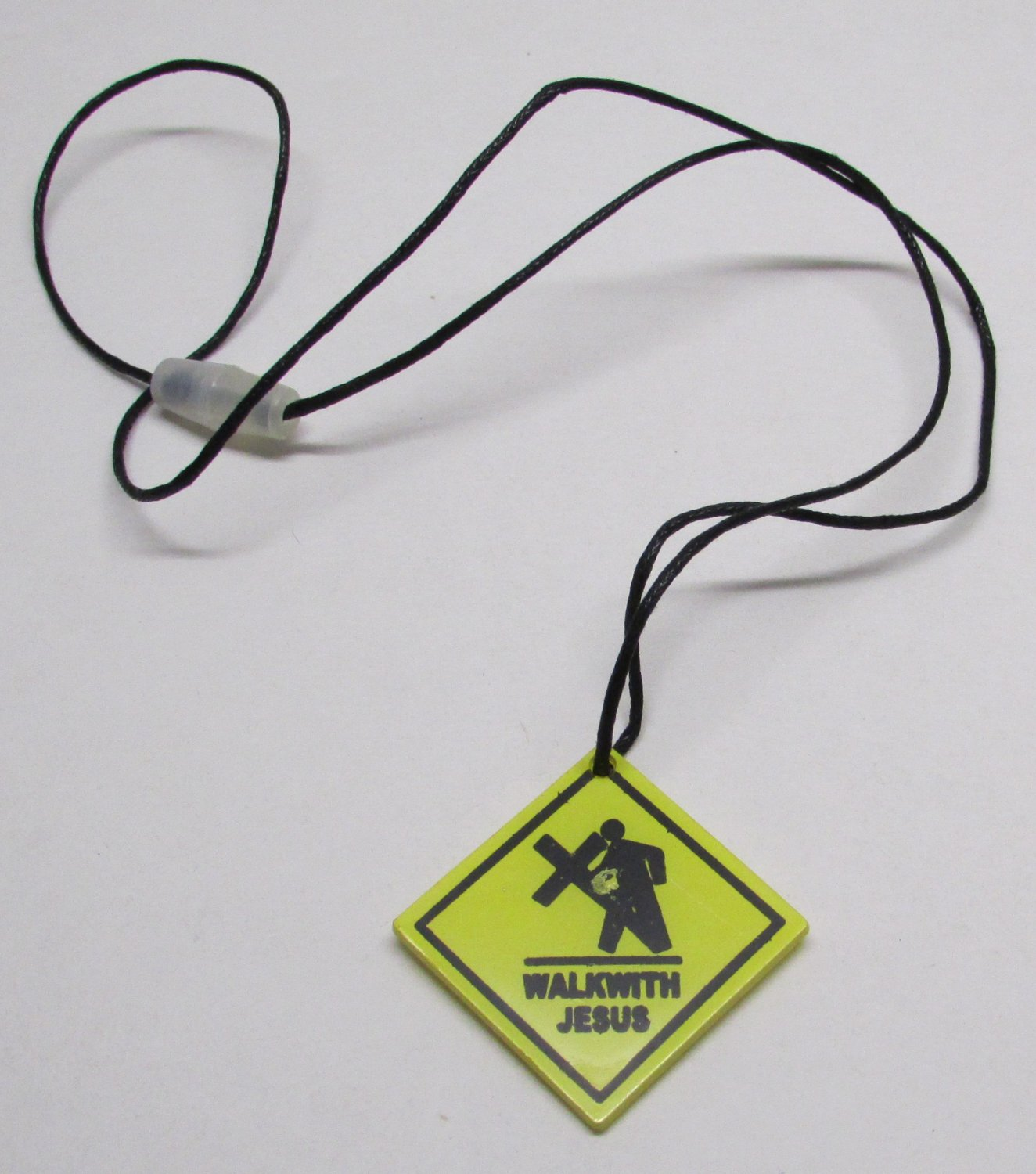 WALK WITH JESUS Street Sign Unlatchable NECKLACE NEW
