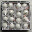 1 Inch Box 16 Mini CUE Que POOL BALLs Billiard Key Chain Ring Keychains NEW