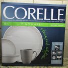 Corelle 16pc piece Round Dinnerware Set MYSTIC GREY Dishes Plates Cups NEW