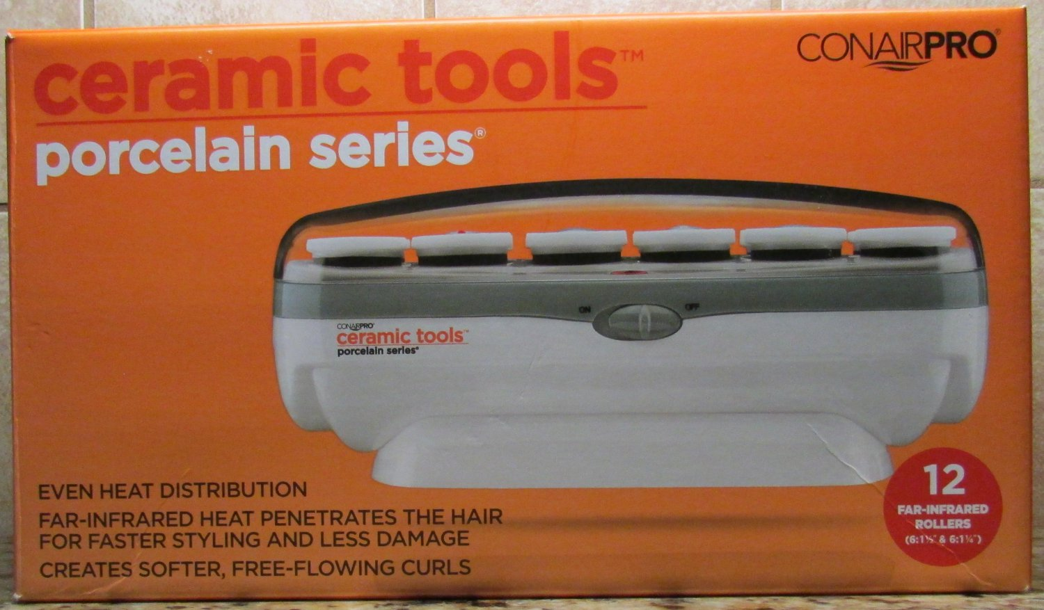ConAirPRO 12pc piece Set Instant Heat Ceramic 12 Roller Hair Setter NEW