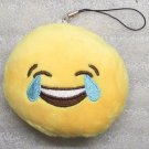Emoji 3 in CRYING Emoticon SMILING Soft Cloth Yellow KEY CHAIN Keychain NEW