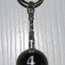 1 Inch Number 4 FOUR SPARKLE Mini POOL BALL Billiard Snooker KEYCHAIN Ring NEW
