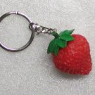 STRAWBERRY Size Rubber KEY CHAIN Ring Keychain NEW