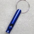 Aluminum Alloy Mini Bottle Shape Blue EMERGENCY WHISTLE KEY Ring CHAIN NEW