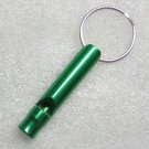 Aluminum Alloy Mini Bottle Shape Green EMERGENCY WHISTLE KEY Ring CHAIN NEW