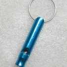 Aluminum Alloy Mini Bottle Shape Light Blue EMERGENCY WHISTLE KEY Ring CHAIN NEW