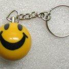 1 Inch SMILEY FACE Mini POOL BALL Billiard KEYCHAIN Ring NEW