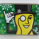 MR PEANUT Tin Box Canister Container with Snow Flakes